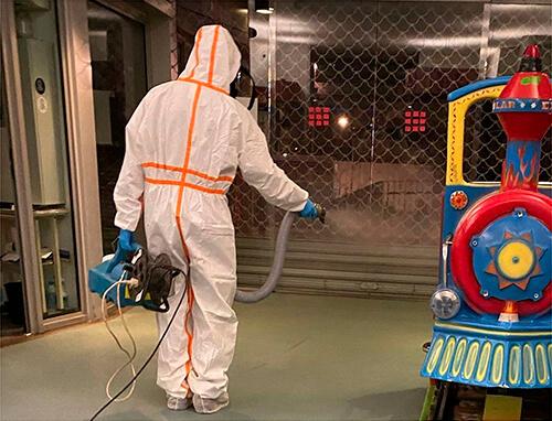 Desinfectación coronavirus máquinas