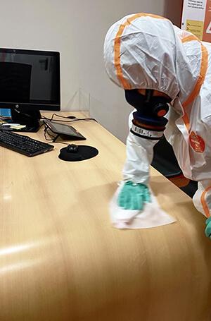 Desinfectación coronavirus lugar de trabajo